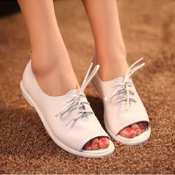 Vrouwen zomer sexy open teen schoenen platte schoenen mode vintage lage- hakken gommini instappers pantoffel
