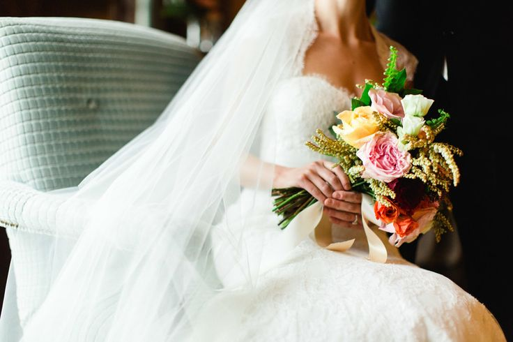 Tuscan in Tremblant — Full Bloom - bride's bouquet - garden rose - rustic - vintage