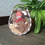 """Handtassen en accessoires.  Fair of Masters - ambachten Doek """"City and Flowers"""" Japans patchwork.  Met de hand gemaakt."""