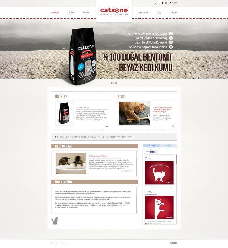 Catzone için hazırlamış olduğum web sitesi tasarımı. Website design for Catzone: www.catzone.com.tr #creative #web #site #design #tasarım