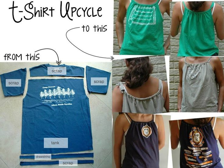 I've been loving cutting up old tshirts lately... I don't like how they fit, but I don't want to toss them... so here are some more great options. Amazing t-shirt refashion!