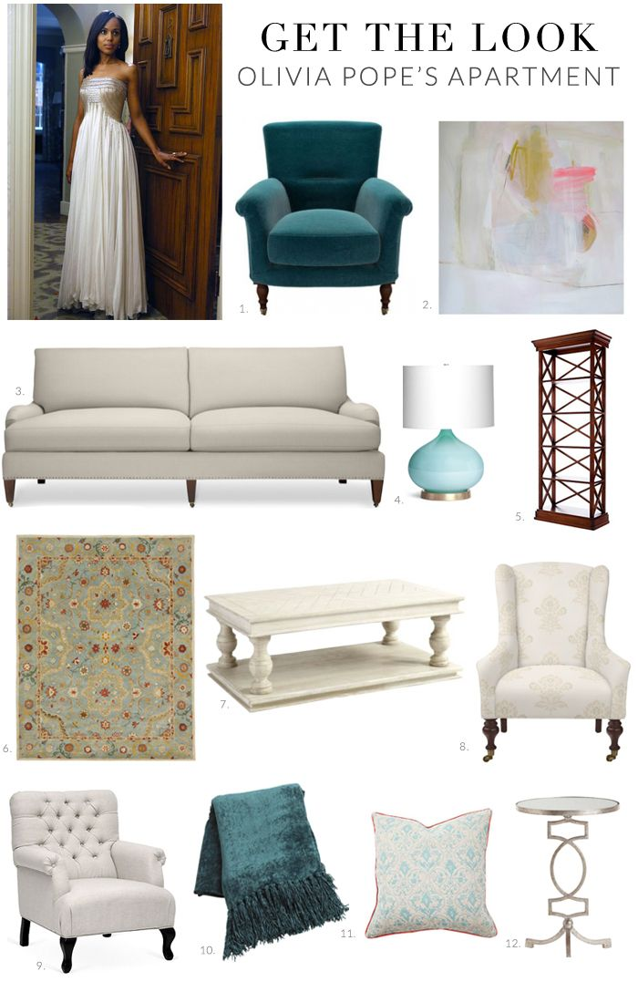 Get the Look: Olivia Pope's Apartment on Scandal