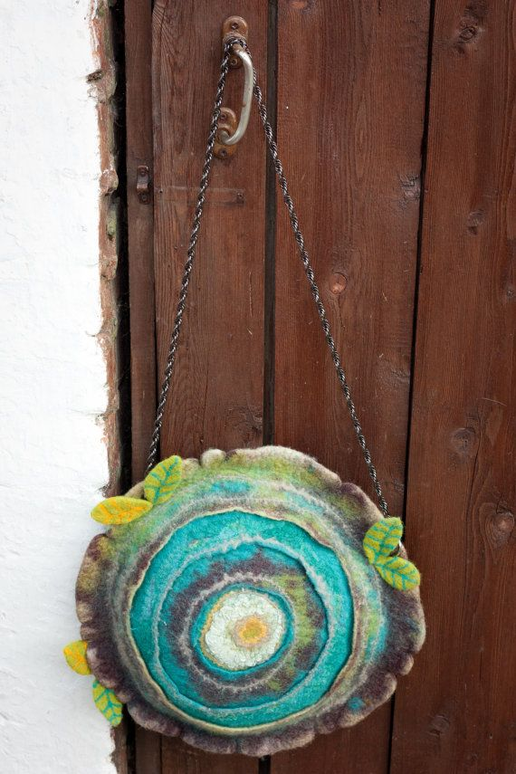 Felted Bag Handbag Purse Felt Nunofelt Nuno by Feltsongs