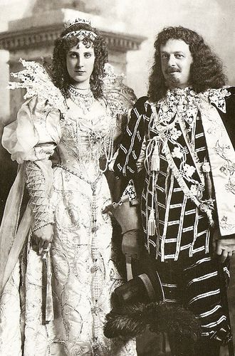 The Duke and Duchess of Portland costumed as the Duke and Duchess of Savoy at the Duke and Duchess of Devonshire's Costume Ball in 1897