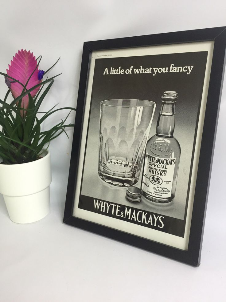 A personal favourite from my Etsy shop https://www.etsy.com/uk/listing/480799845/whyte-mackays-scotch-whiskey-alcohol