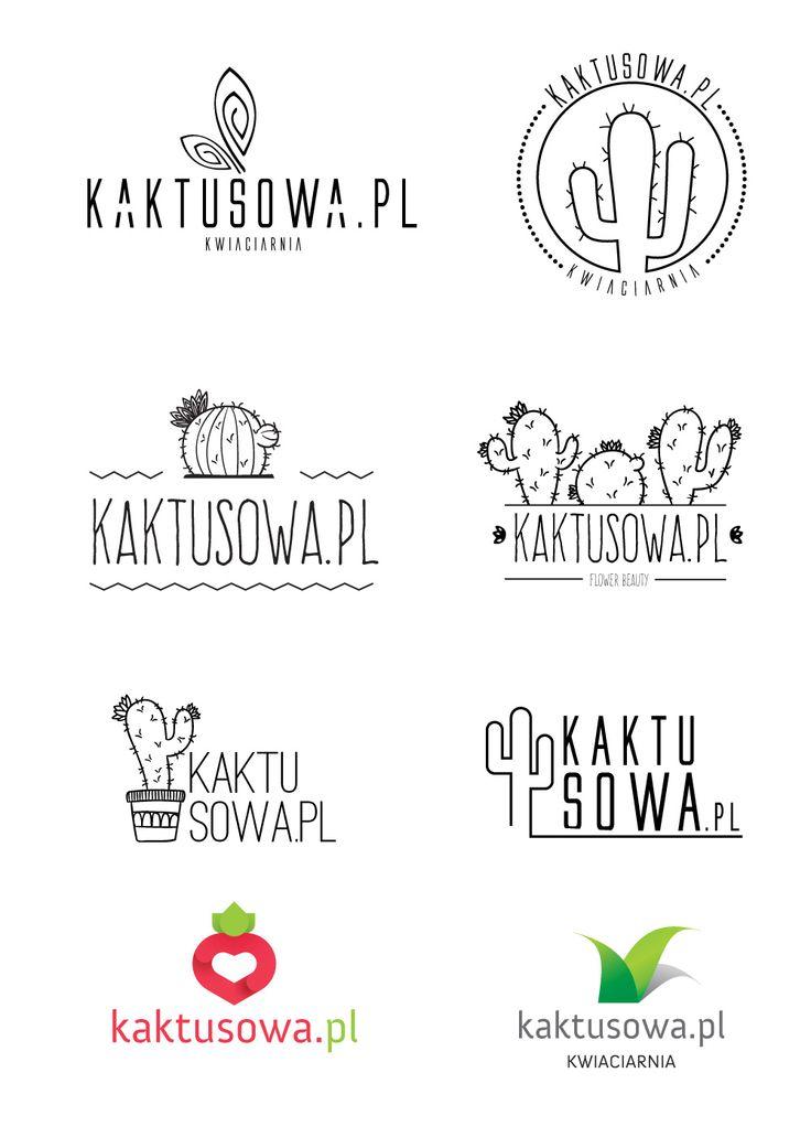 Propozycje logotypów dla kwiaciarni kaktusowa.pl | www.pinkelephant.pl
