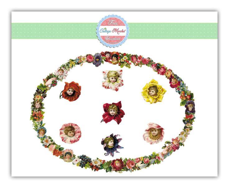 Free Flower Fairie Digital Images Junkin Joe Linky Party Reminder! - The Cottage Market