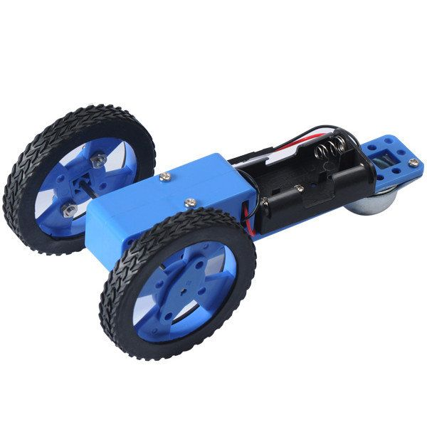 DIY 130 Reducer Box Car With Battery Holder Set Small Assembly Toy Kit For Children