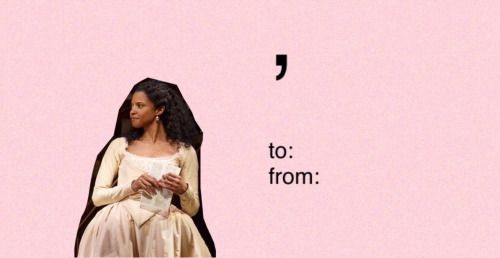 Only in the Hamilton fandom does a single comma count as flirting