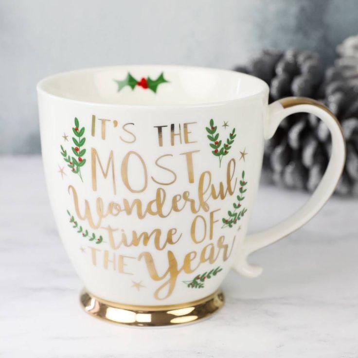 'Most Wonderful Time Of The Year' Ceramic Christmas Mug