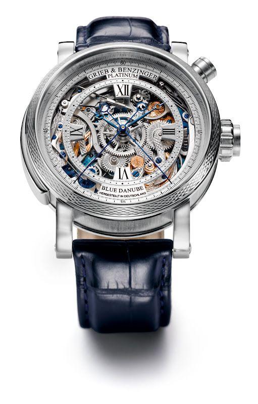 Grieb & Benzinger Blue Danube.: Nice Watches, Platinum Cases, Circa 1890, Patek Philippe, Alligators, Danube Timepiece, Time Measuring, Grieb Benzinger Blue Danube, Men Watches