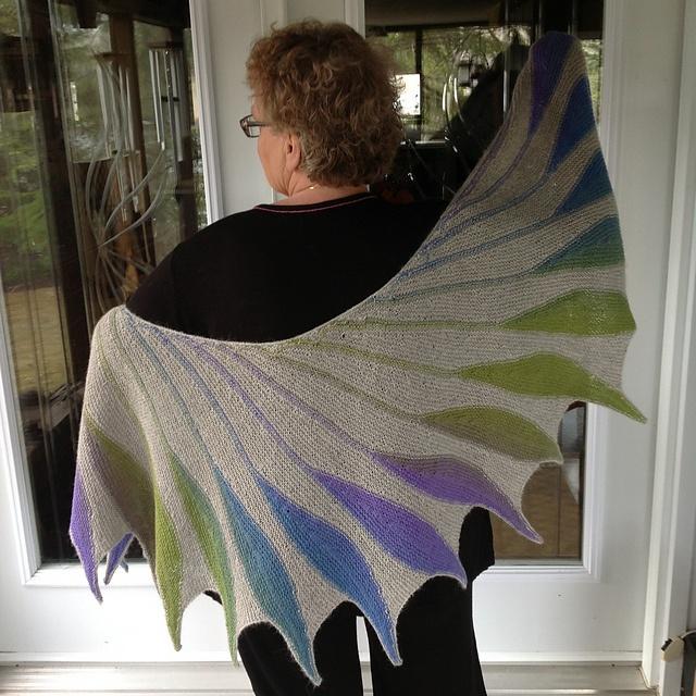 66 best knit dreambird shawl images on Pinterest | Knit crochet ...