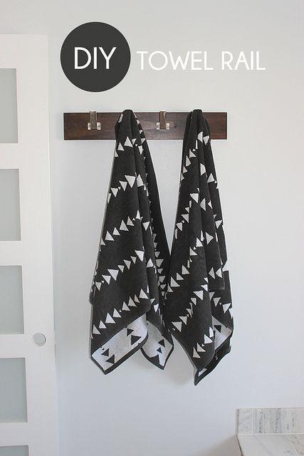 DIY Towel Rail by Home Coming, via Flickr