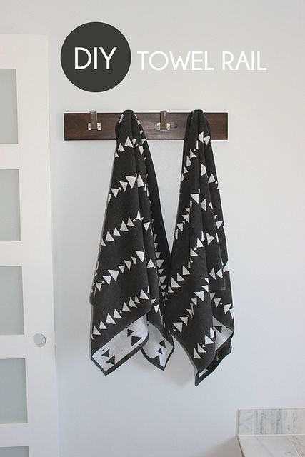 DIY Towel Rail by Home Coming, via Flickr