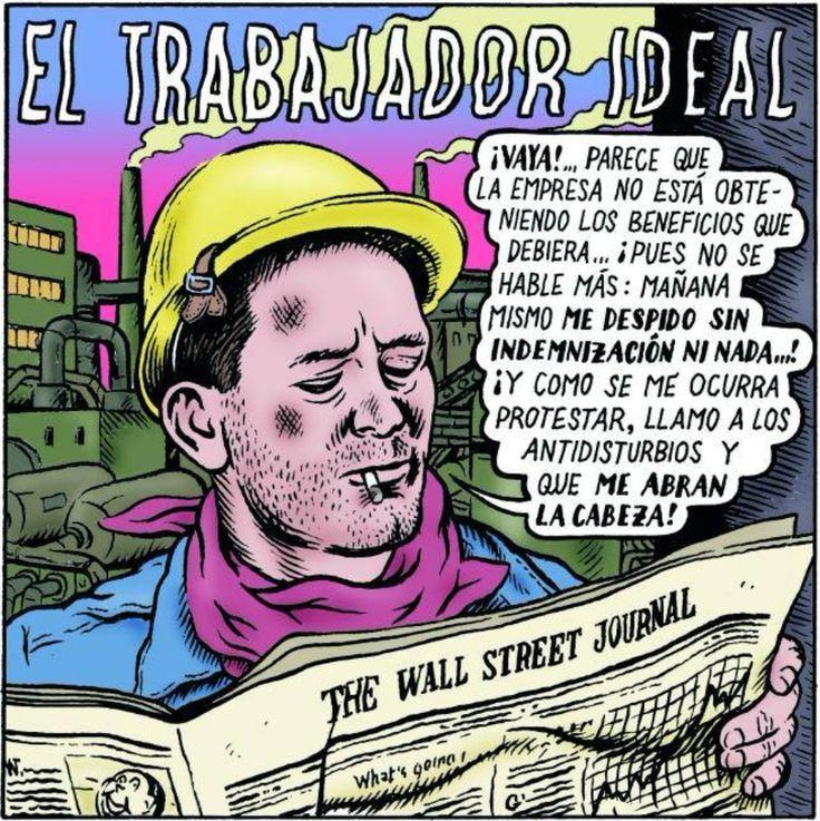 El trabajador ideal... #Viñeta #Humor