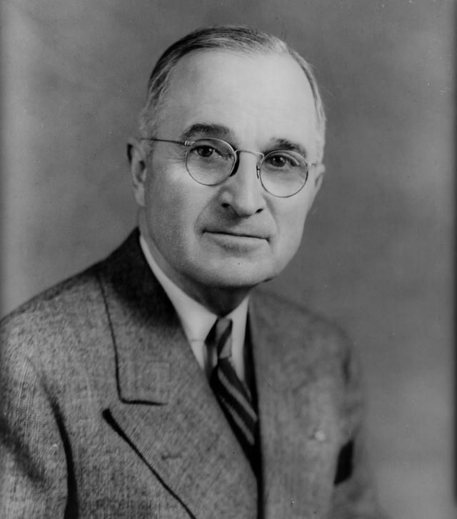 Harry S Truman, Thirty-Third President of the United States - Credit: Library of Congress, Prints and Photographs Division, LC-USZ62-88849 DLC