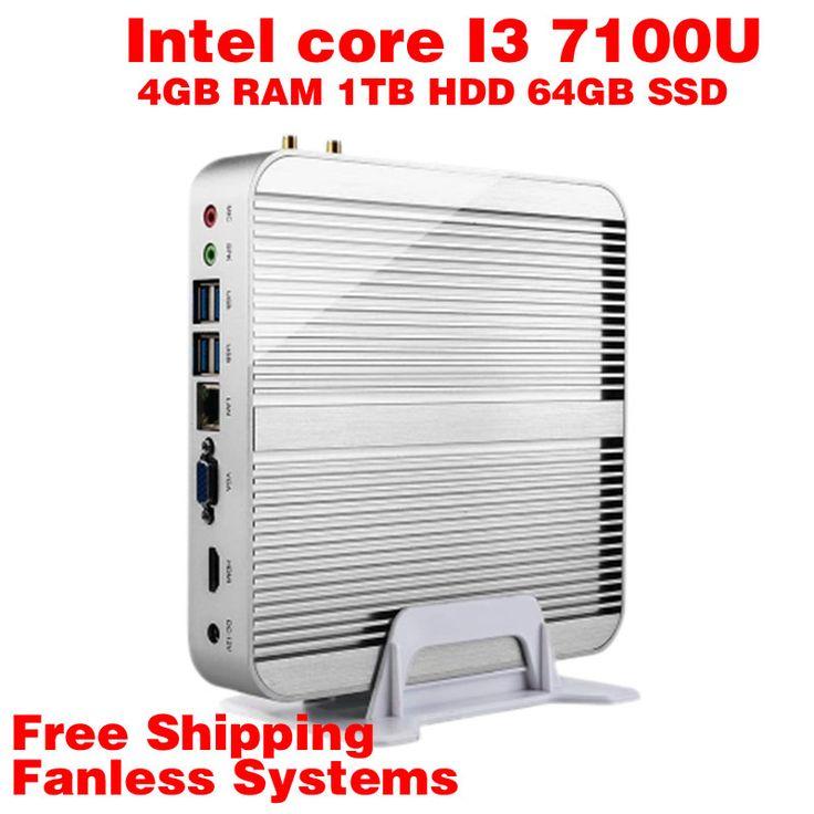 Mini PC Intel 7e Gen Kaby Lac Windows 10 i3 7100U 4GB RAM 1TB HDD 64GB SSD Graphics 620 300 M Wifi  TV Box Free Shipping usb