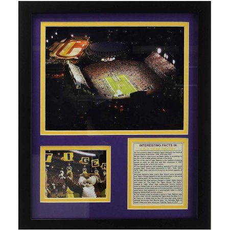Legends Never Die Louisiana State Tigers Tiger Stadium Framed Photo Collage, 11 inch x 14 inch