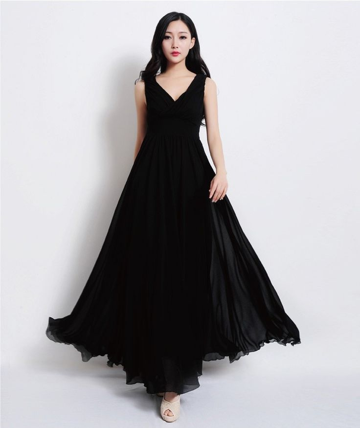 New arrival 2015 Women ladies spring winter runway fashion Black colour solid elegant cute Brief style Maxi dress Party 5006