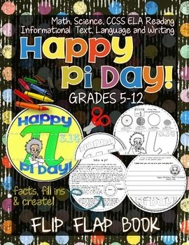 Pi Day Flip Flap Book.*Math, Science, CCSS ELA Reading Informational Text, Language and Writing* Pi Day is March 14th. ($)