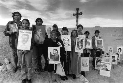 """DETENIDOS DESAPARECIDOS, remembering the """"disappeared"""" in Chile, los desparecidos."""