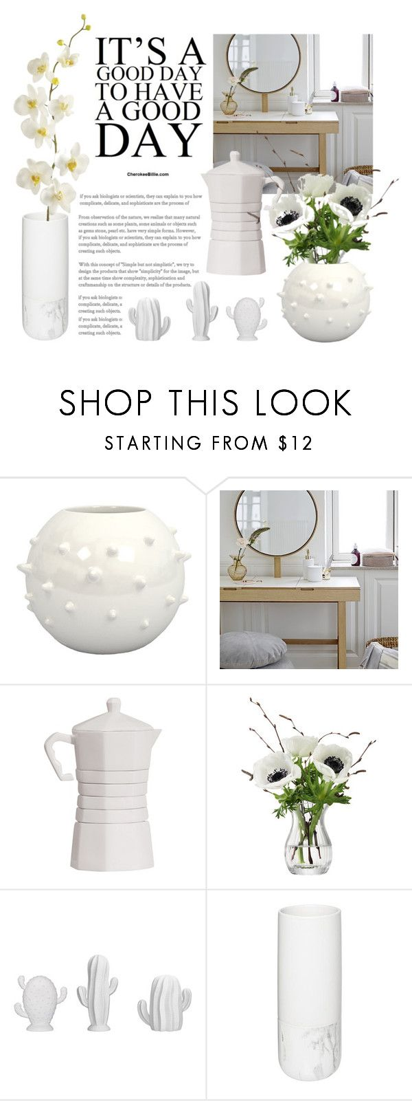 """""""morning flower power"""" by froileinwalther ❤ liked on Polyvore featuring interior, interiors, interior design, home, home decor, interior decorating, Bloomingville, LSA International and Pier 1 Imports"""