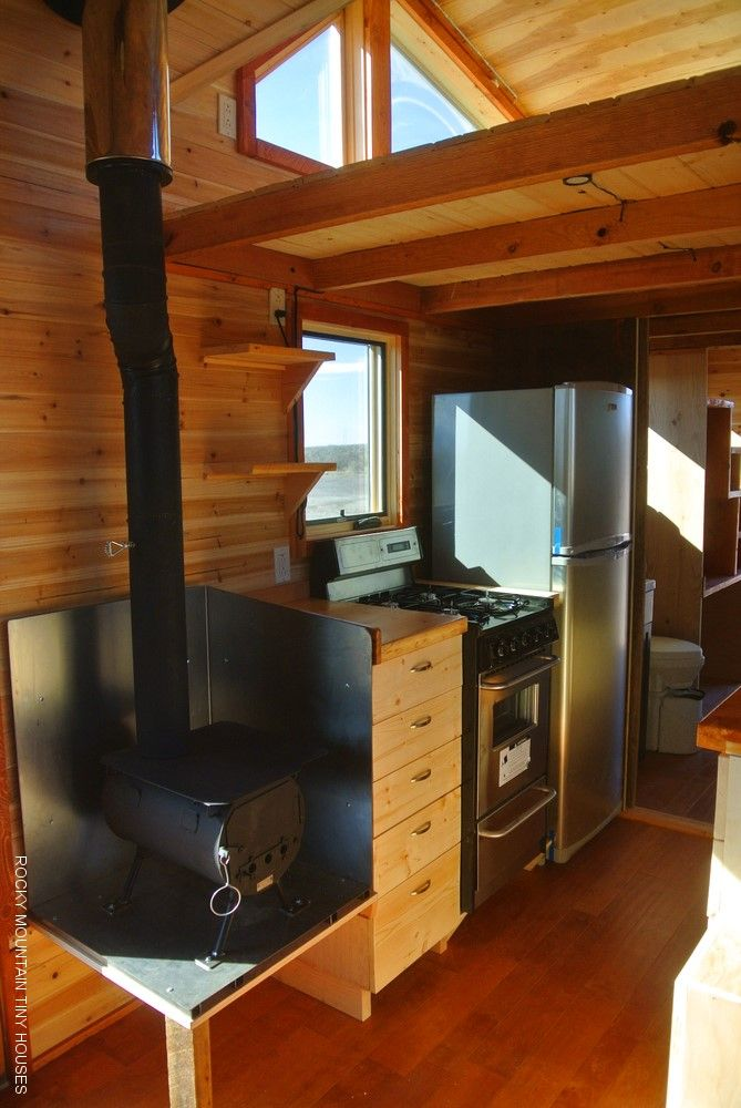 —rockymountaintinyhouses.com—Rio Grande Gooseneck Tiny House woodstove