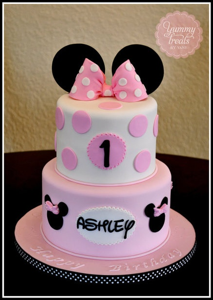 Minnie cake but change to Mickey for Hudson