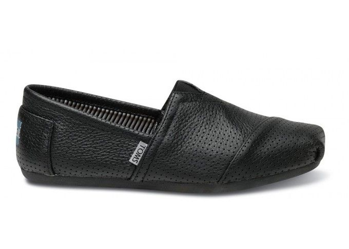 OMG black leather toms with perforations. LOVE