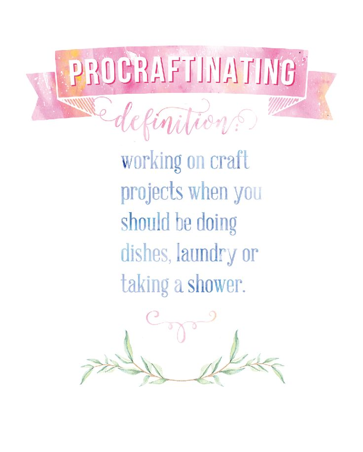 ProCRAFTinating Free Printable for your Craft Room