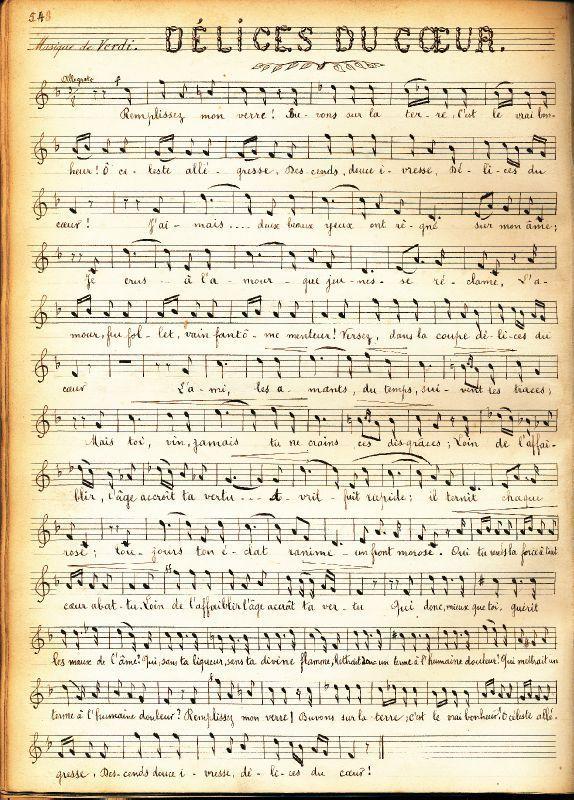 Partition musicale 1900 vintage