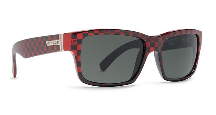 Von Zipper Fulton Red & Black Checker Ironman Limited Edition Sunglasses BRE