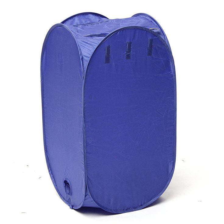 Nylon Blue Portable Electric Air Clothes Dryer Folding Fast Drying Machine Bag Box Multipurpose 800W