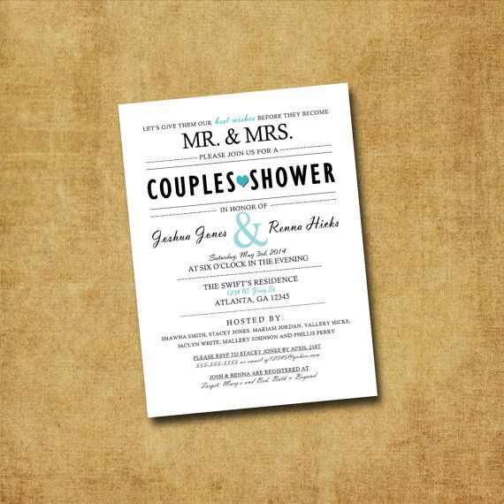 Sale - Couples Shower Invitation - Printable Couples Shower Invitations, His and Hers Shower, Bridal Shower, Engagement Party, Lingerie