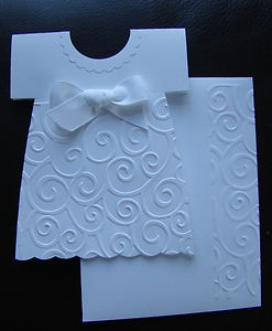 Girl Handmade Dress Card @ my comis I love this for a baby girl baptism