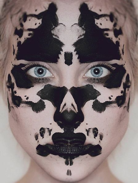 Rorschach..Not even sure where to pin this, just thought @Katie Brown would think it's cool for makeup ideas!