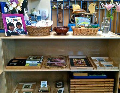 Asia....beautiful ideas (& Montessori shelves always warm my heart :)