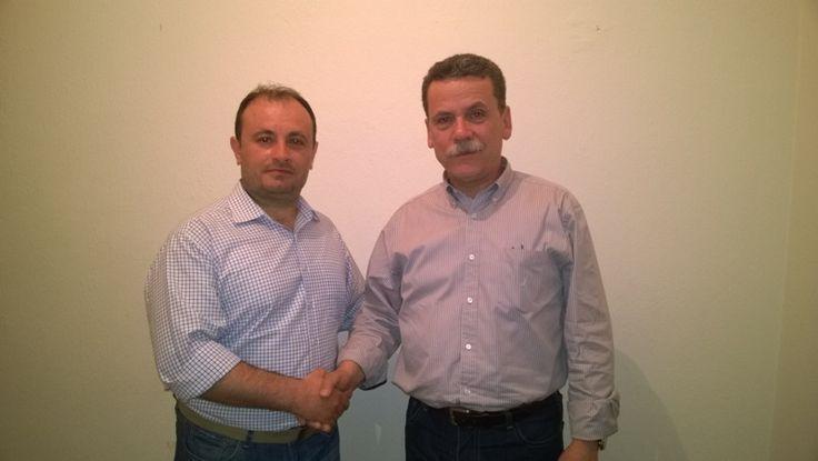 Συνάντηση του Γιώργου Πατιού (υποψηφίου), με τον Λάζαρο Μαλούτα. #ekloges2014, # kozani, #enothta, #maloutas, #enotita