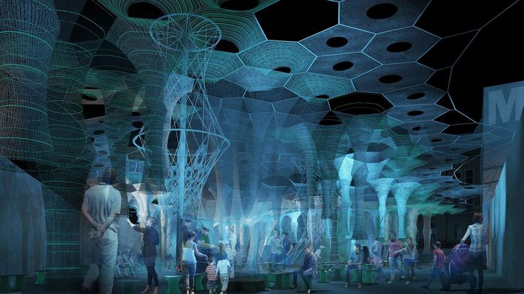 Jenny Sabin to create robotically knitted canopy for MoMA PS1 Young Architects Program 2017 https://www.dezeen.com/2017/02/20/moma-ps1-jenny-sabin-studio-young-architects-program-yap-lumen-installation-new-york-usa-news/