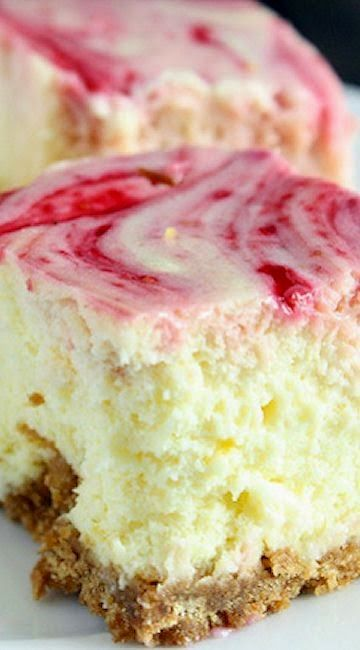 "Lemon Raspberry Cheesecake Squares ""These cheesecake squares look so incredibly delicious!!"""