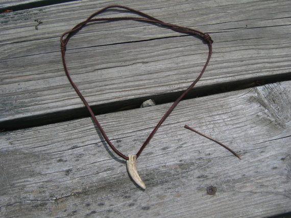 Kid's Deer Antler Necklace  Kids Necklace  Boys by ChicShedJewelry