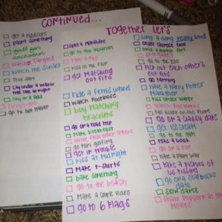 @courtneynewboldd couples bucket list (: