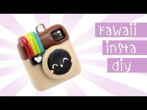 Kawaii Instagram Charm polymer clay tutorial