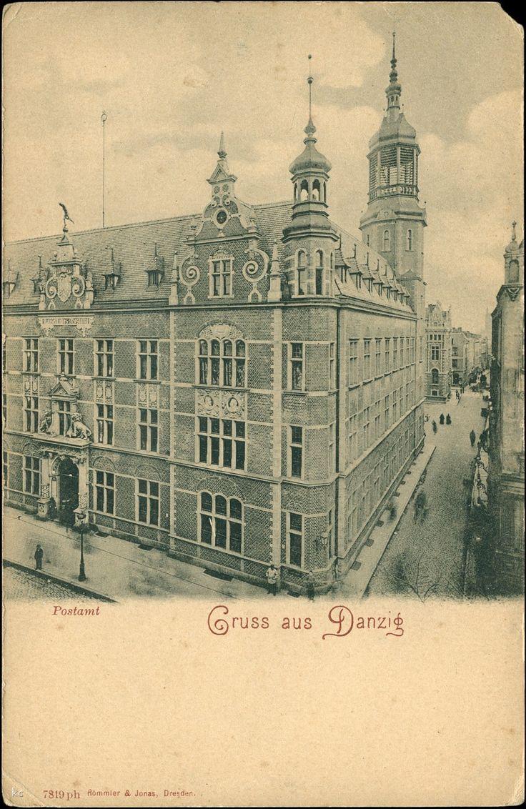 Poczta Polska Urząd Pocztowy Gdańsk 50, Gdańsk - 1898 rok, stare zdjęcia
