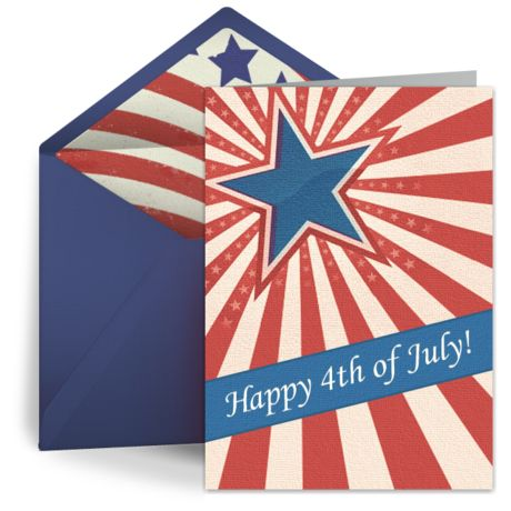 """""""Stars and Stripes"""" free digital greeting card from Punchbowl. We love the vintage feel of this patriotic design!"""