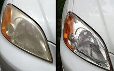 Si los faros de tu coche tienen un aspecto opaco y amarillento, esto es lo que tienes que hacer.