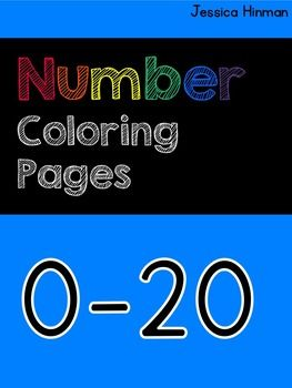 Number Coloring Book: As you teach and review numbers 0-20 you can use these pages to reinforce the numbers.