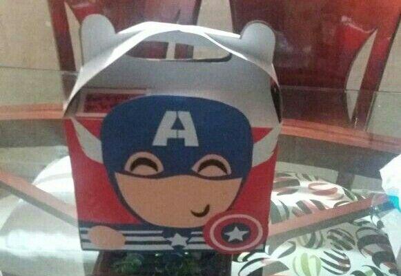 Caja de capitán América