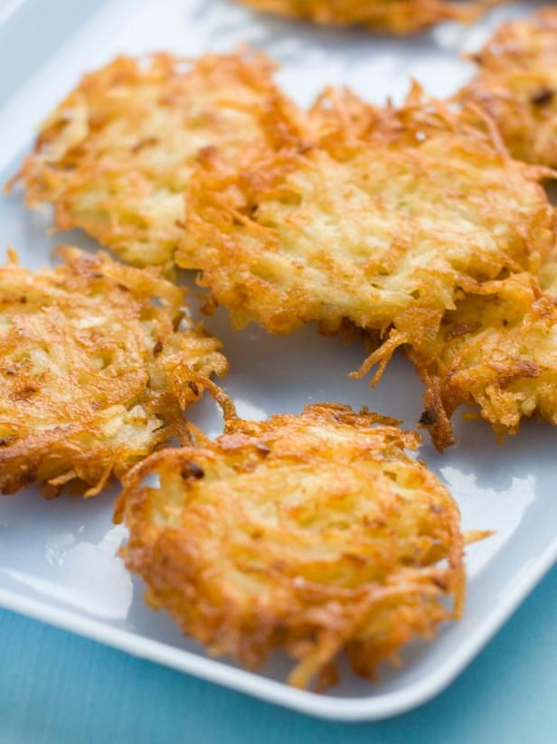 Create a delicious Hanukkah meal with this quick and easy potato latke recipe, made with frozen shredded potato.