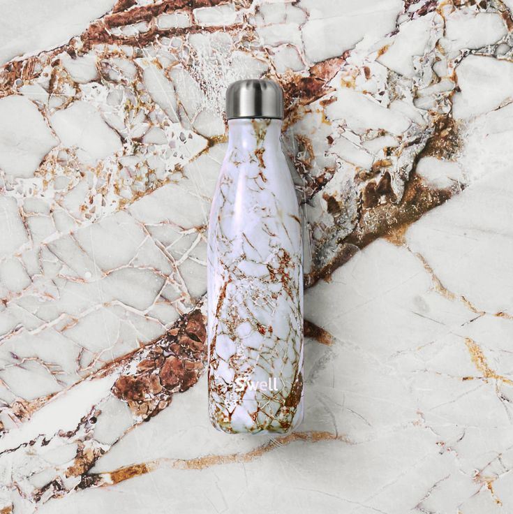 Calacatta Gold Insulated Stainless Steel Water Bottle S Well Marble Water Bottle Well Bottle Cute Water Bottles